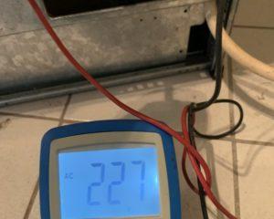 Herdanschluss Messung L1-N
